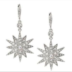 Kenneth Jay Lane Starburst earrings NWT KJL